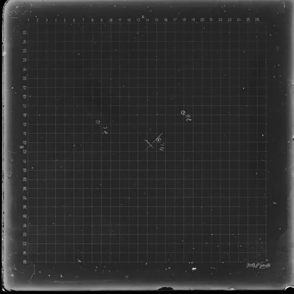 1st Perth Astrographic Catalogue (ASCAT) plate. Image Credit: Dr Craig Bowers