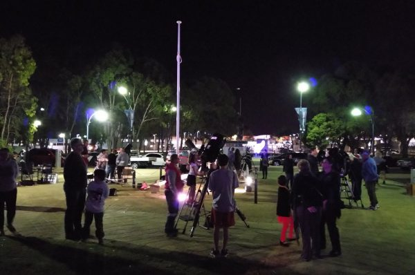 Our telescopes at the 2019 Joondalup Festival. Image Credit: Matt Woods