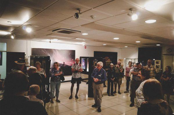 Volunteer Arthur talking about museum. Image Credit: Matt Woods