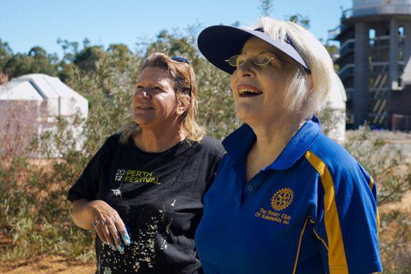 Artist Sharyn Egan and Dee Buckland from Rotary Kalamunda. Image Credit: Edwin Sitt