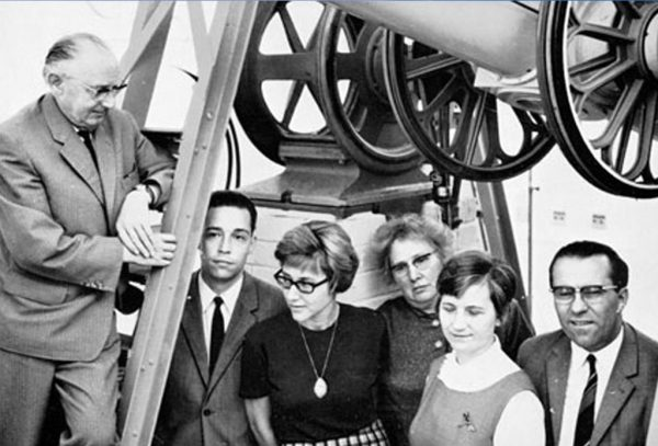 Astronomers from the Hamburg Observatory in 1967. Image Credit Perth Observatory