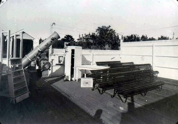 The Calver Telescope at the original Perth Observatory. Image Credit: Perth Observatory
