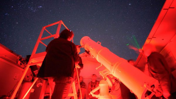 The Calver Telescope on a Night Sky Tour. Image Credit: Roger Groom