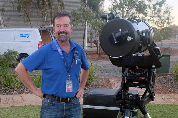 Celestron Ultima 11 Telescope with volunteer Steve Ewing