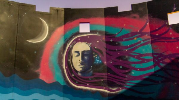 The Charnok Woman on our indigenous astronomy centre Worl Wangkiny. Image Credit: Geoff Scott