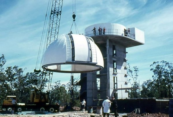 Construction of the Lowell Dome. Image Credit Perth Observatory