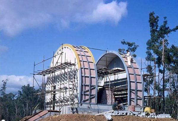 Construction of the new Meridian Dome at Bickley. Image Credit Perth Observatory