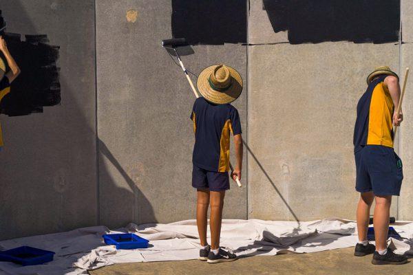 Follow the Dream students painting. Image Credit: Edwin Sitt