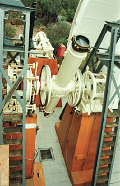 The Hamburg Observatory's Meridian Circle Telescope at Perth Observatory. Image Credit: Perth Observatory