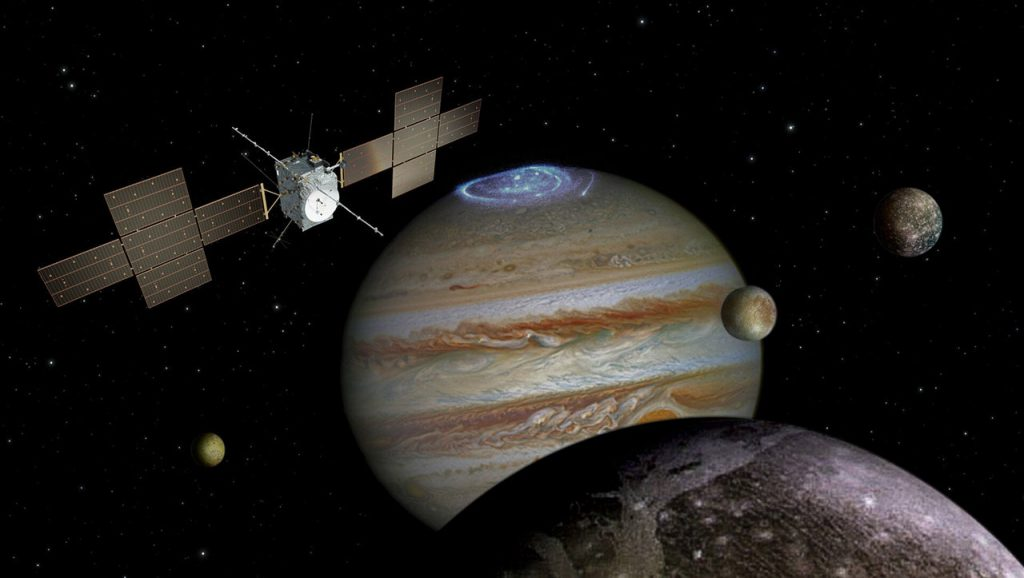 The Jupiter Icy Moons Explorer. Image Credit: ESA