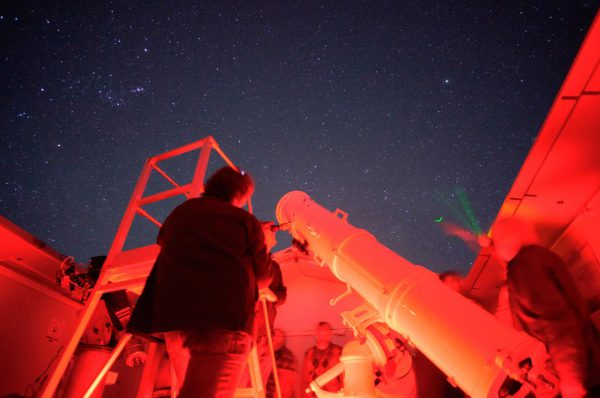 A person looking through the Calver Telescope. Image Credit: Roger Groom