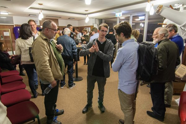 Meet and greet after a talk. Image credit: Roger Groom