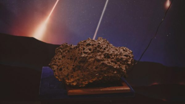 A piece of the Mundrabilla Meteorite. Image Credit: Zal Kanga Parabia