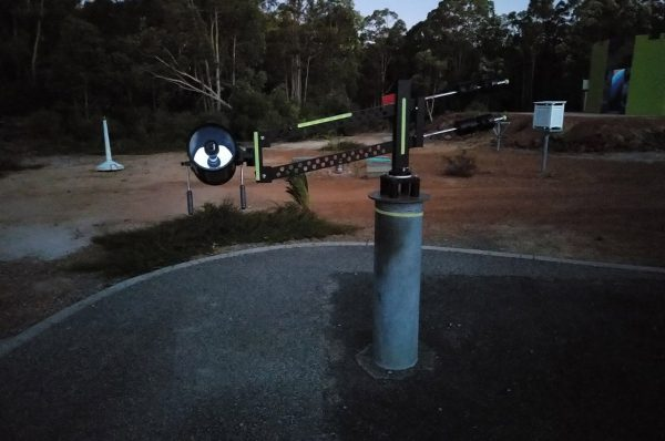 The Pantograph Telescope from the front. Image credit: Matt Woods