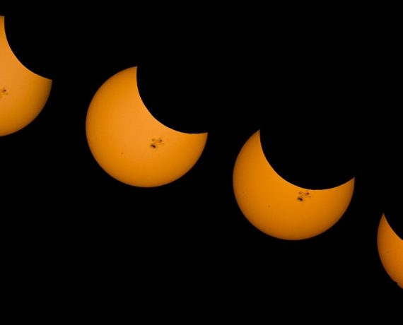 Partial solar eclipse banner