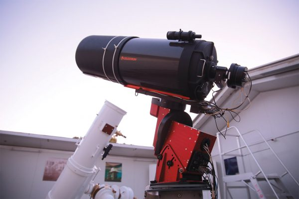 The R-COP and Calver telescopes. Image Credit: Roger Groom