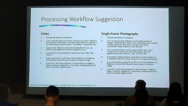Roger going into workflow. Image Credit: Matt Woods