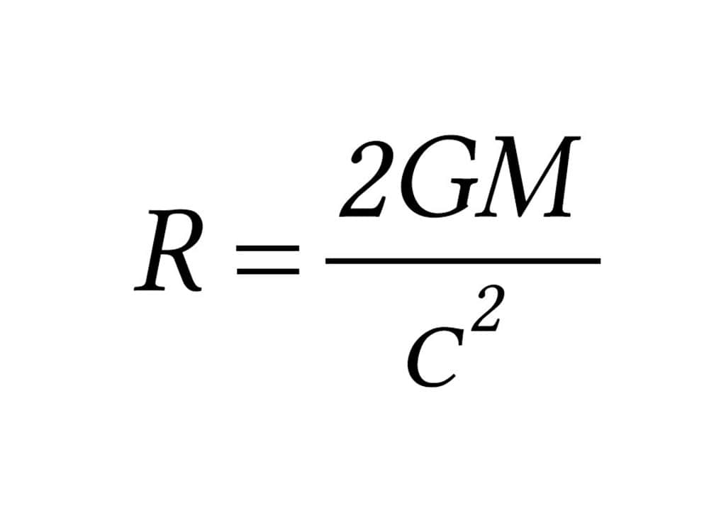 Schwarzschild Radius Mathematical Equation