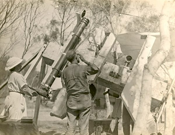 Lick Observatory team setting up their equipment for the total solar eclipse at wallal. Image Credit: Perth Observatory