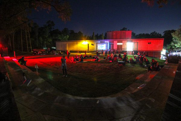The back lawn area during the ABC Stargazing Live record attempt. Image Credit: Geoff Scott