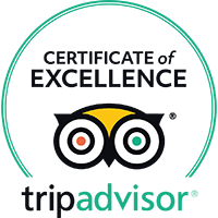 TripAdvisor Certificate of Excellance Stamp