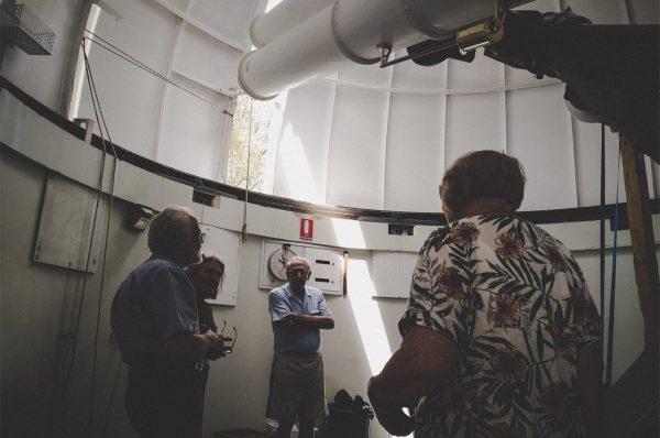 Volunteer Terry talking about the Astrographic Telescope. Image Credit: Matt Woods