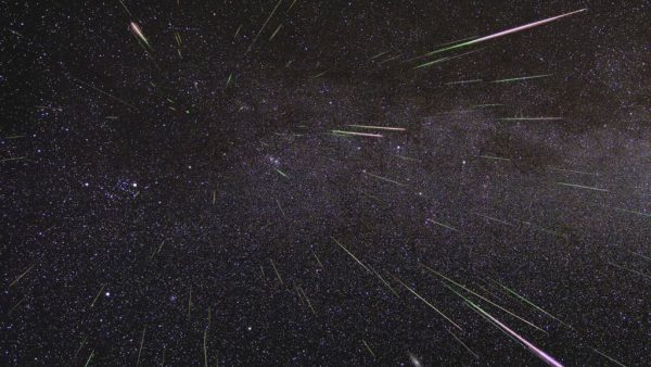 The Perseids from the Northern Hemisphere. Image Credit: Space.com