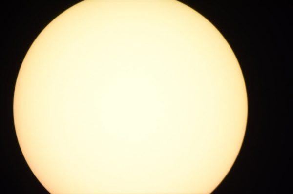 The Sun through the CPC 1100 telescope. Image Credit: Matt Woods
