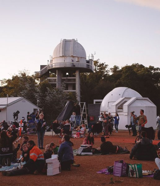 People at our viewing area for our ABC stargazing live event. Image Credit: Zal Kanga Parabia