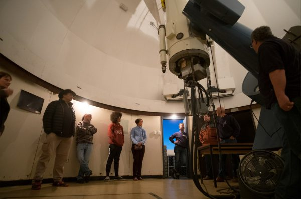 Tour of the Lowell Telescope. Image Credit: Roger Groom