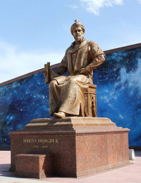 Ulugh Beigh Statue. Image Credit: Wikipedia
