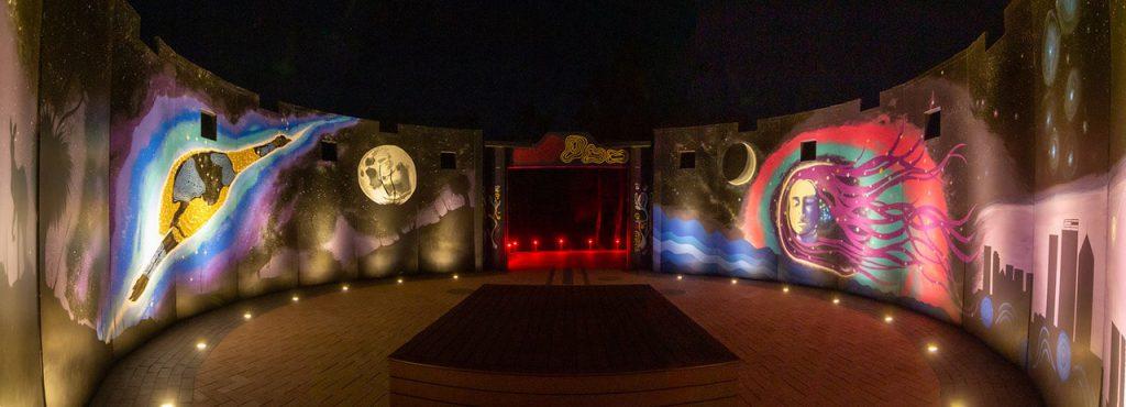 Panorma of Worl Wangkiny at night. Image Credit: Geoff Scott